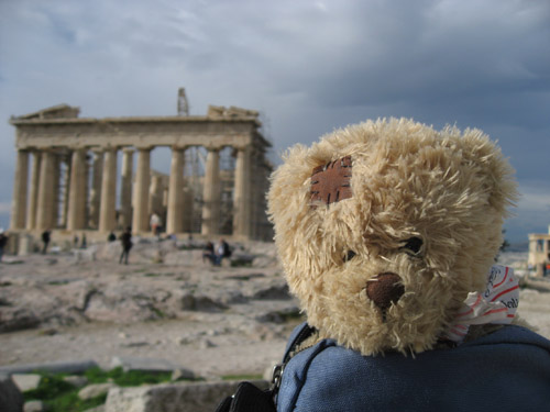Friedrich devant le Parthénon