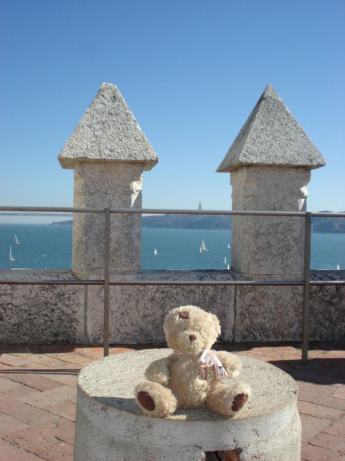 friedrich en haut de la tour de Belém